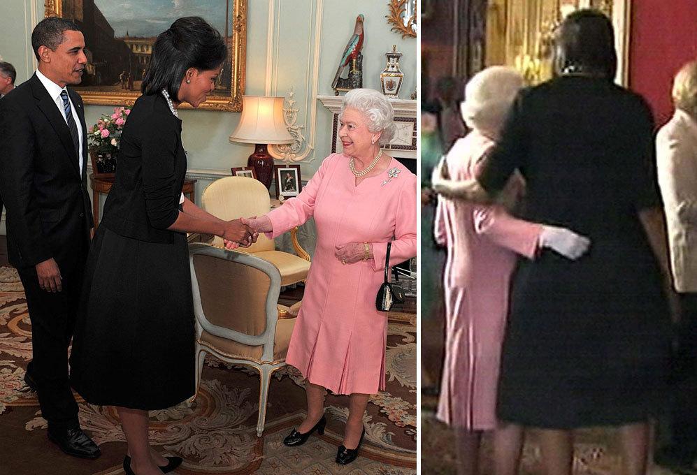 La reina recibió en Londres al presidente de Estados Unidos, Barack...