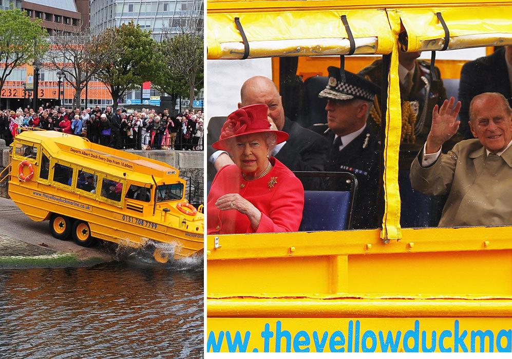 En 2012, Isabel II y el duque de Edimburgo dieron un paseo por uno de...