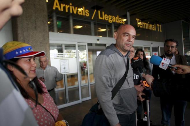 Julio Montoya, a su llegada a Madrid.