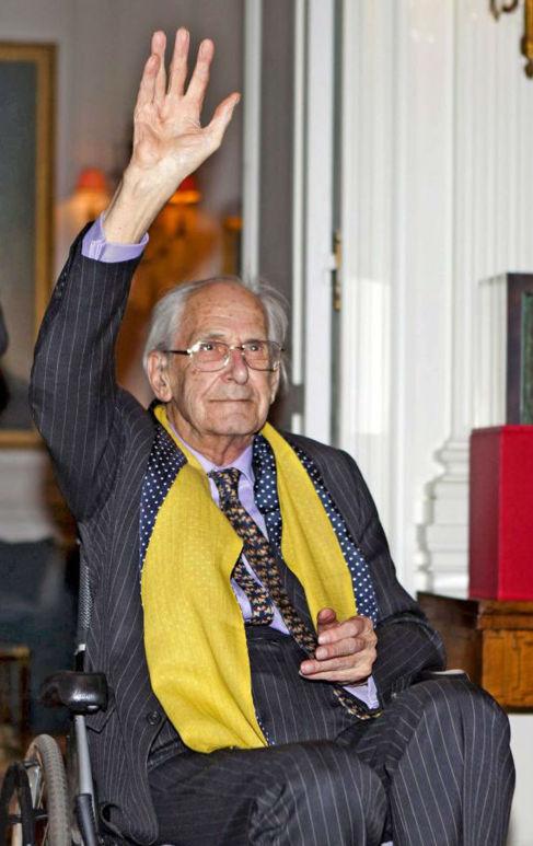 El historiador, durante la entrega del Premio de la Fundación Banco...