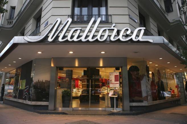 Fachada de la pastelería Mallorca, en Madrid