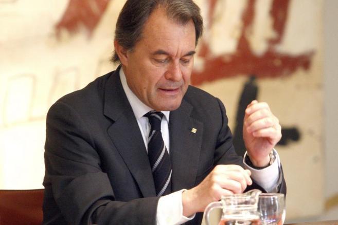 El presidente de la Generalitat, Artur Mas, en la reunión del Govern.