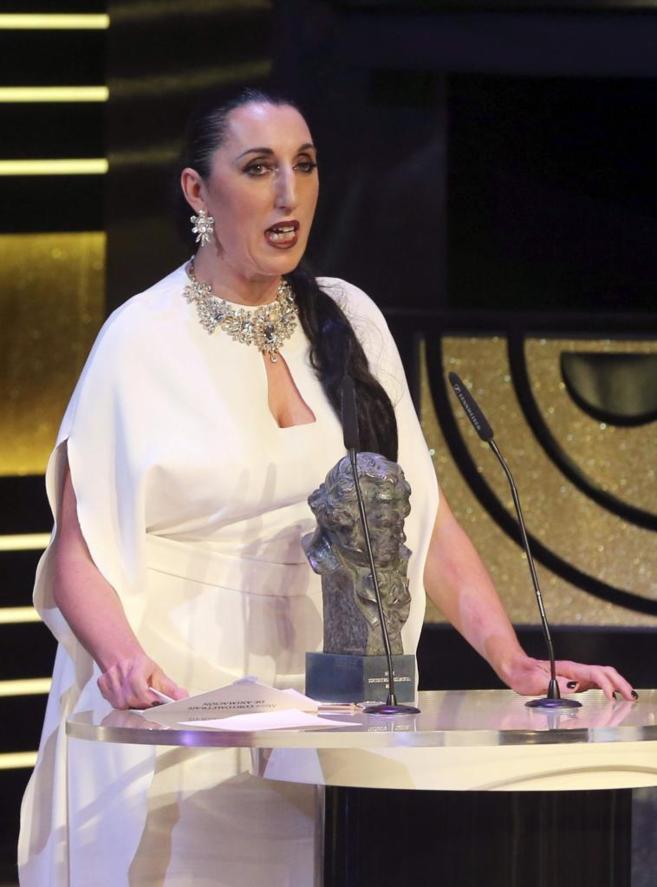 Rossy de Palma, en la entrega de los Premios Goya 2015
