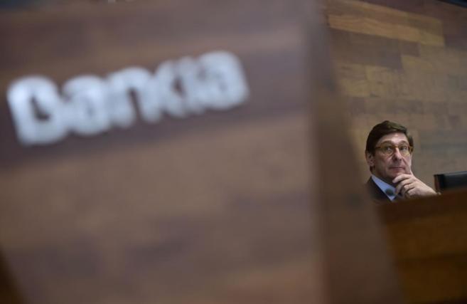 El presidente de Bankia, José Ignacio Goirigolzarri, en una rueda de...