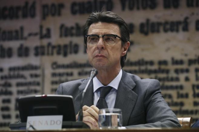 El ministro de Industria, José Manuel Soria, en una comparecencia en...