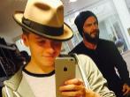 Brookly y David Beckham, en una imagen compartida en Instagram