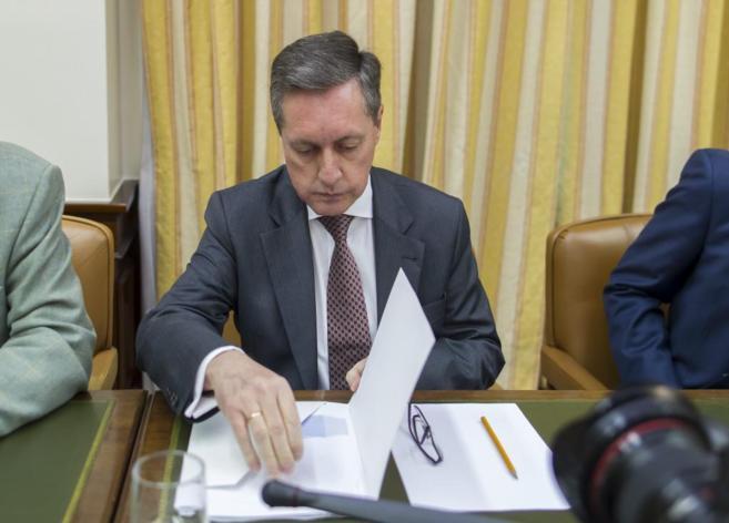 El director de la Agencia Tributaria, durante su comparecencia.