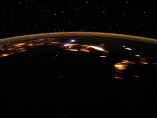 Las Líridas vistas desde la Estación Espacial Internacional.