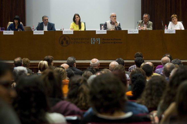 Mínguez (Podemos), Pañella (Compromís), Gascó (PP), Ángel San...