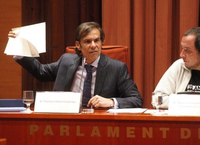Francisco Marco durante la comparecencia en el Parlament