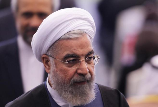 El primer ministro iraní, Hasan Rohani, hoy, en la 60 Conferencia...