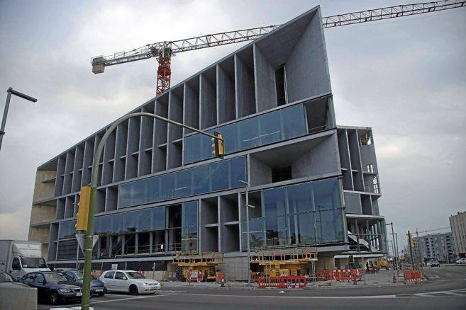 Imagen de la construcción del Palacio de Congresos de Palma.
