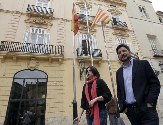 Ignacio Blanco y Rosa Pérez Garijo, antes de la rueda de prensa de...