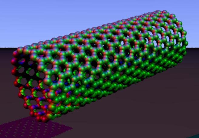 Aspecto molecular de las nanoparticulas de cabrono