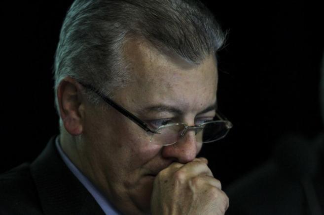 El presidente de Petrobras, Aldemir Bendine, durante la presentación...