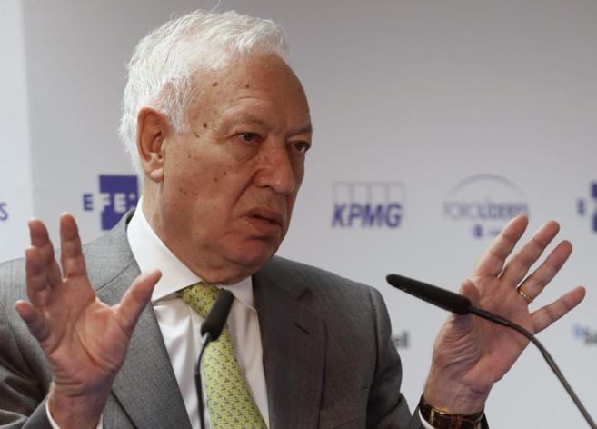 José Manuel García-Margallo durante su intervención en el Foro...