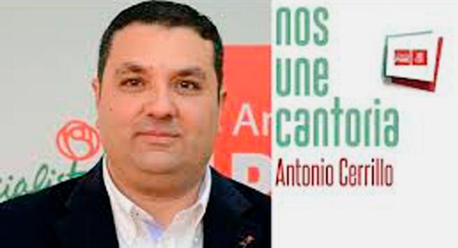 Cartel electoral de Antonio Cerrillo, candidato socialista a la...