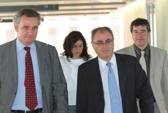 Ramon Massagué, acudiendo a los juzgados.