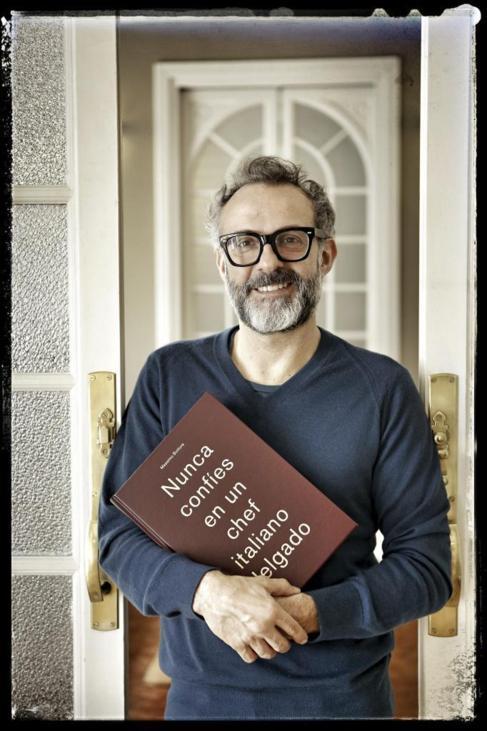 Massimo Bottura, en su visita a Madrid