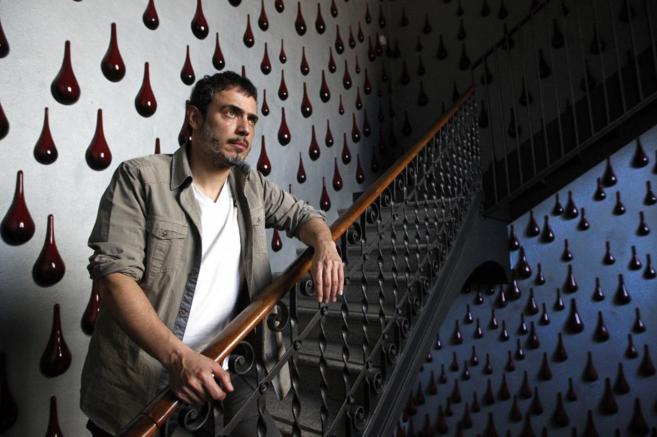 Julio Manrique durante la entrevista