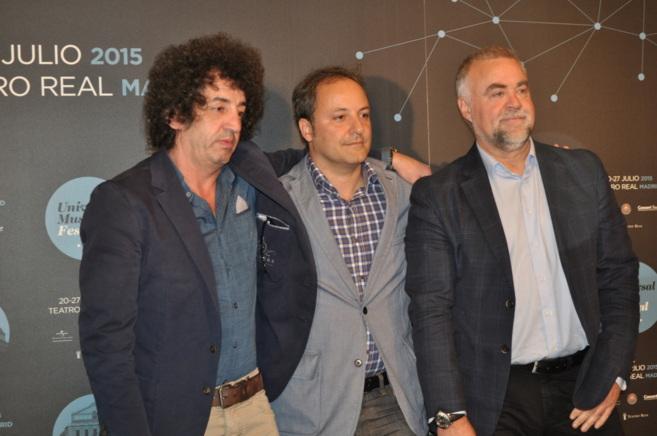 El productor de Concert Tour, Rafael Casilla, con Narcís Rebollo y el...