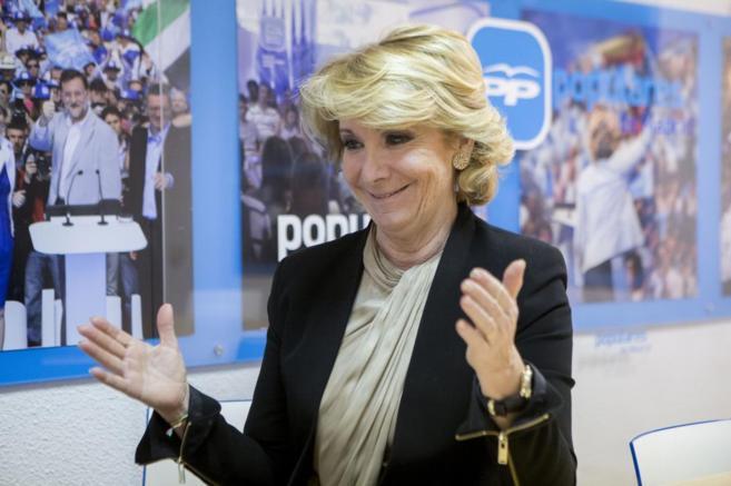 Esperanza Aguirre, candidata del PP a la Alcaldía de Madrid.