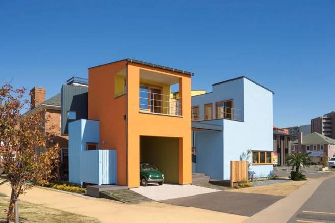 Vista de la fachada del prototipo de vivienda diseñado por Javier...