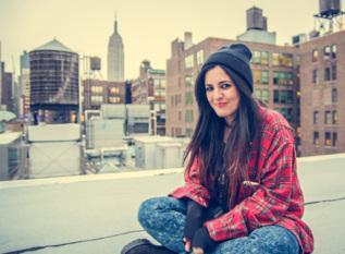 Rocío Guerrero, en la oficina de Spotify en Nueva York. EL MUNDO