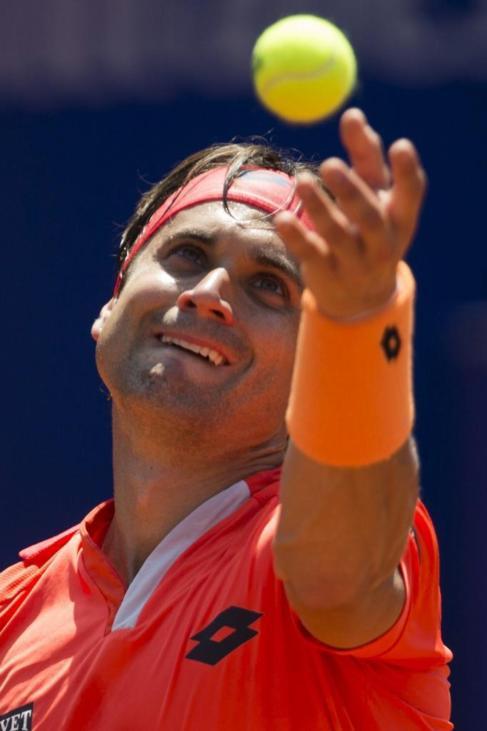 David Ferrer, durante su encuentro de cuartos de final.