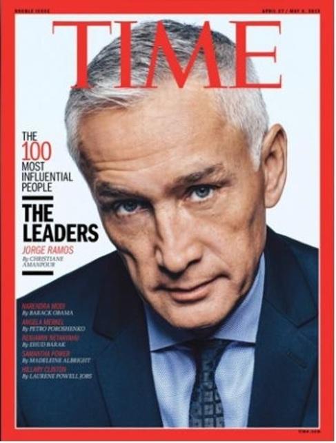 El periodista Jorge Ramos, portada de la revista 'Time'.