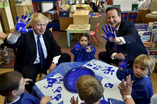 El alcalde de Londres, Boris Johnson, y el premier David Cameron.