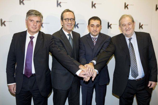 Xabier Iturbe, Gregorio Villalabeitia, Xabier Sagredo y Fernando...