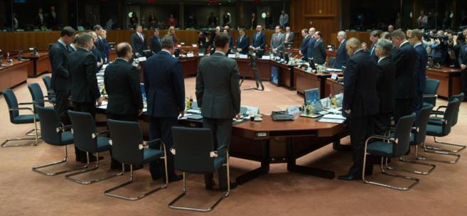 Los líderes de la UE han guardado un minuto de silencio por las...