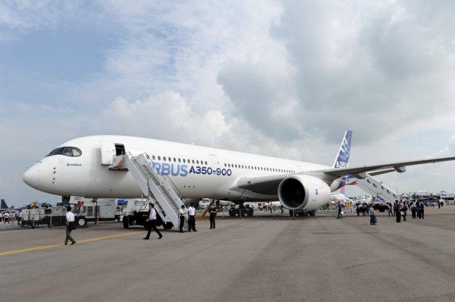 Un avión del modelo A350.