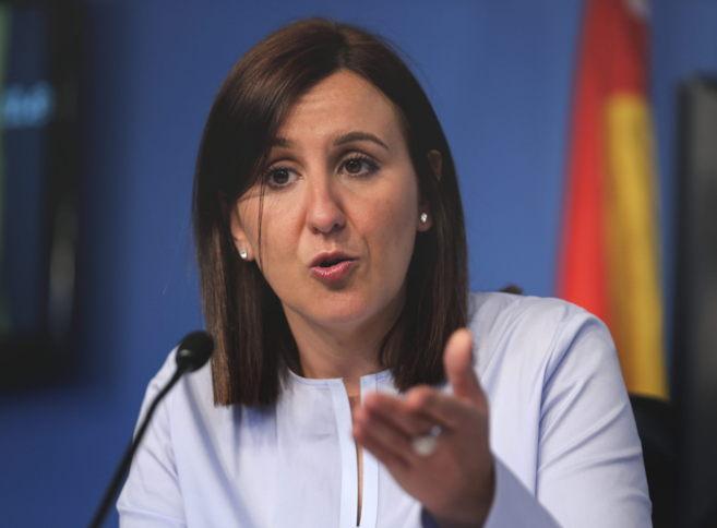 La consellera portavoz, María José Català, durante la rueda de...