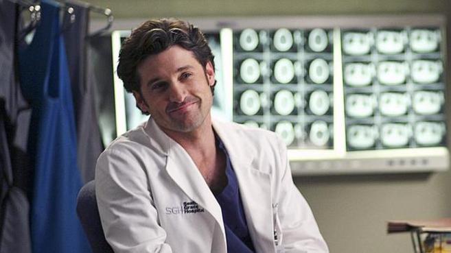 El actor Patrick Dempsey interpreta al doctor Shepherd en uno de los...