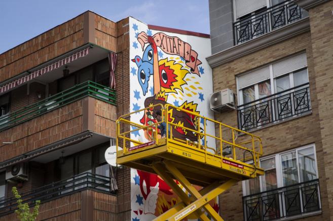 Una de las obras del festival urbano.