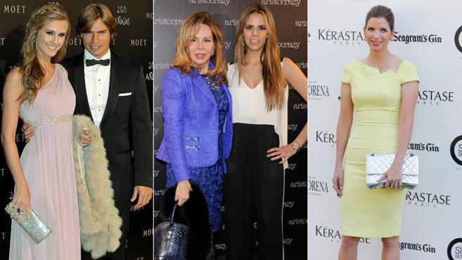 De izquierda a derecha: Astrid Klisans y Carlos Baute, Lilia López y...