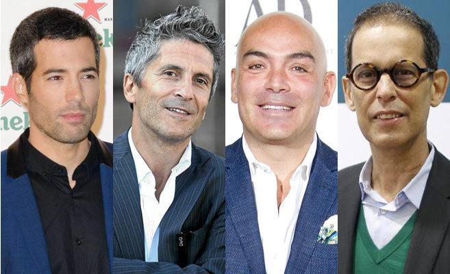 De izda a dcha., Oriol Nolis, Fernando Grande Marlaska, Kike Sarasola...
