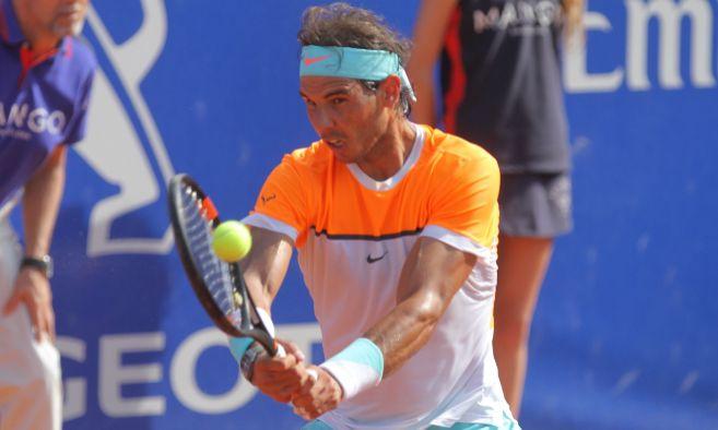 """Rafael Nadal durante el Open Banc Sabadell """"Trofeo Conde de..."""