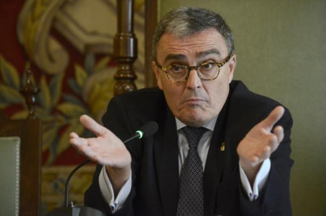 El alcalde de Lleida, Àngel Ros, durante un pleno municipal.