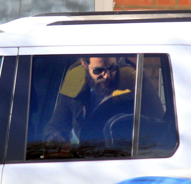 Borja Thyssen, en su coche, en una imagen de archivo.