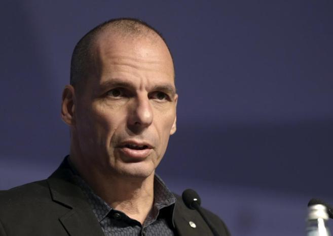 El ministro de Finanzas griego, Yanis Varufakis, durante una...