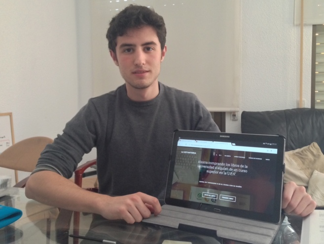 El joven Álvaro Castro, promotor de la plataforma...