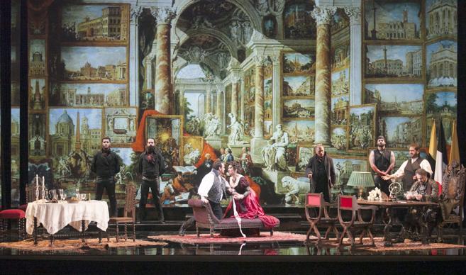Un momento de la representación de 'Tosca' en el Gran...
