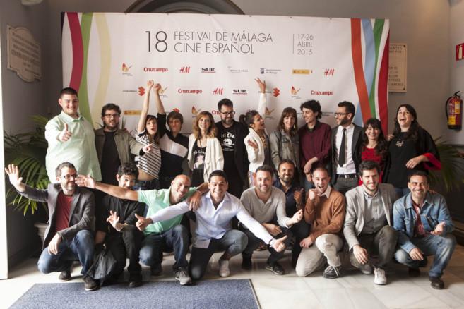 Foto de grupo de los ganadores del certamen.