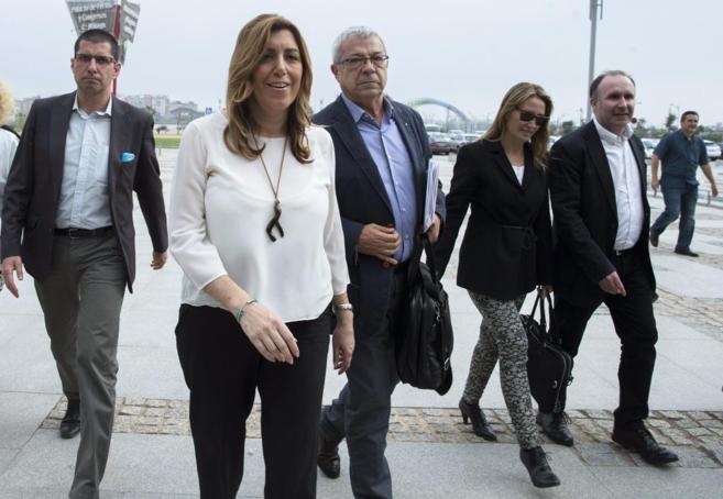 Susana Díaz, el viernes, a su llegada al I Congreso andaluz de...