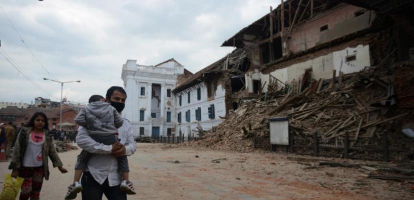 Estampa de las calles de Katmandú.