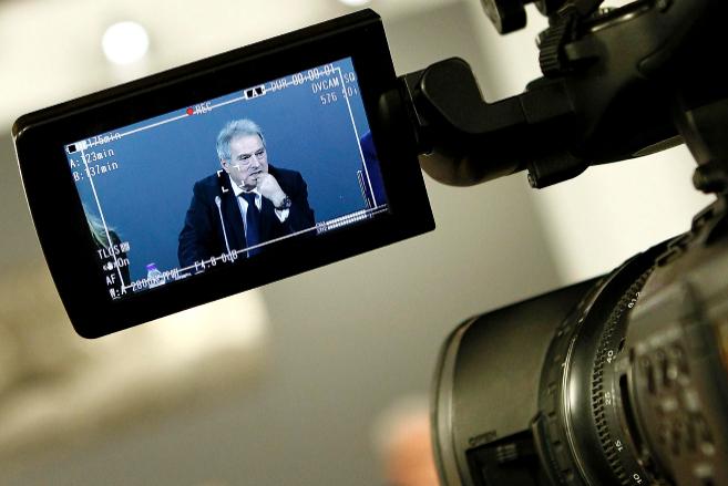 Rus el día que presentó la televisión de la Diputación.