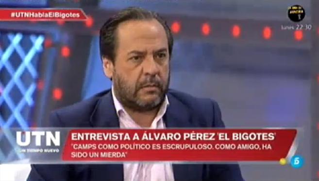 Álvaro Pérez 'El Bigotes', durante su entrevista en...